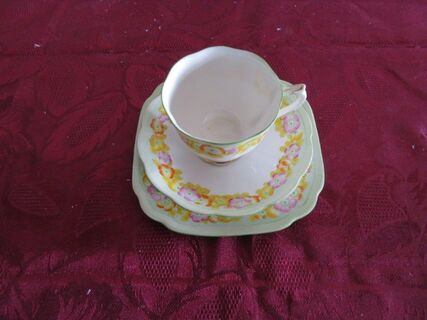 Royal Albert Floral Trio with scalloped edge