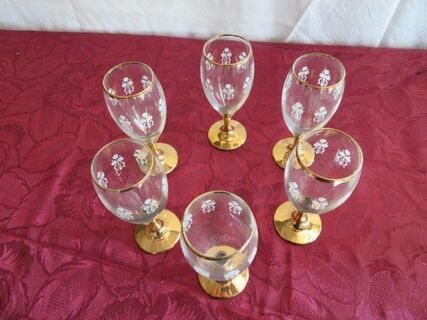 Gold etched wine glasses