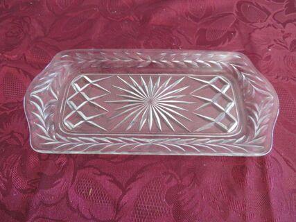 Heavy cut glass sandwich plate