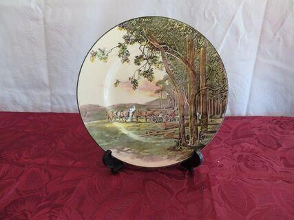 "Royal Dalton Plate – ""Timber Wagon"""