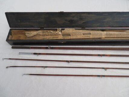 antique fly fishing rod split cane in box