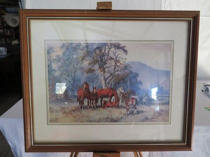 "Darcy Doyle ""September Foals"" framed print"