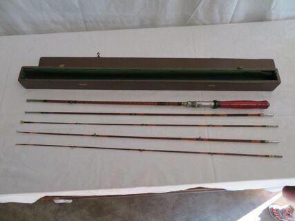 Fly fishing rod antique split cane in box