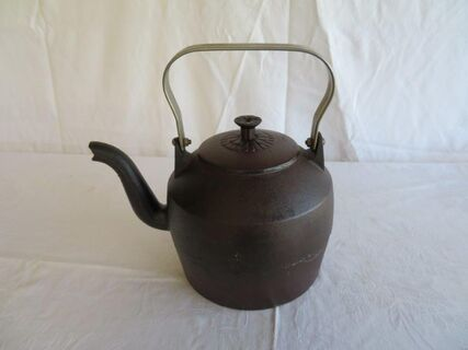 Cast Iron kettle complete with original lid