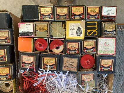 Mixed box of Pianola rolls 24 rolls