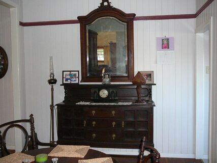 Large Oak hanging mirror