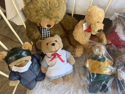 Careflight package, teddy bears and sponsors framed helicoptor print