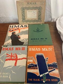 HMAS books in VGC slip dust jackets
