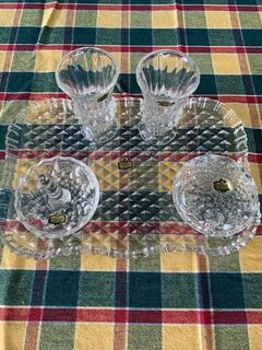 crystal dressing table set excellent condition