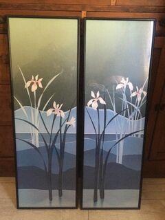 Water Iris framed prints x 2
