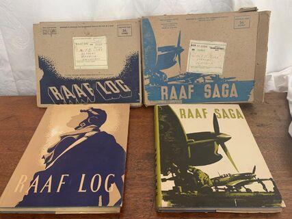 RAAF - Log - Saga, dust jacket & original postage