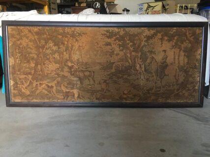 Circa 1900 Tapestry in original frame