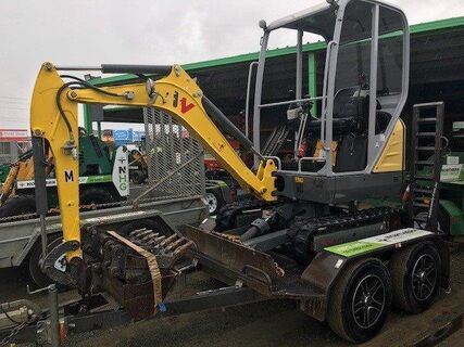 Wacker Neuson ET16 – 1.5 Tonne Excavator on Trailer