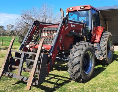 Case 7210 tractor with FEL