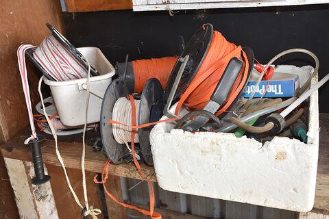 Qty electric fence reels & drench guns