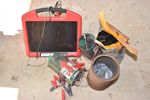 Solar Panel, Batteries, Electric fence, sundries