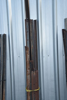 Qty steel posts, various sizes