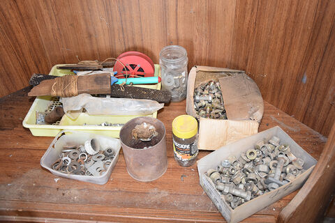 Qty sundries, bolts & washers