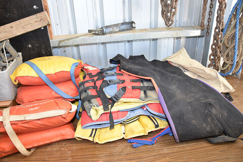 Assorted life jackets
