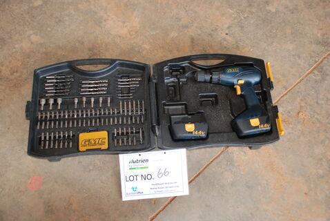 14.4v cordless drill set
