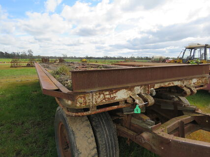 HAY TRAILER - 28 ft with dolly, floor needs attention