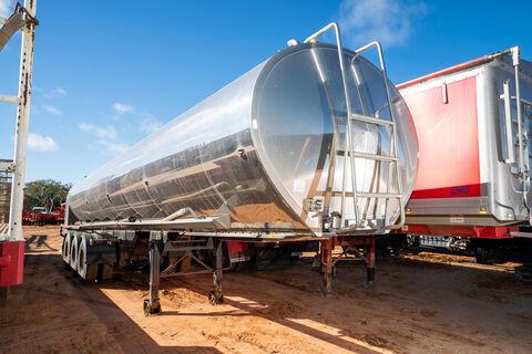 1998 Tieman 27,000Ltr water tanker trailer (stainless steel tank)