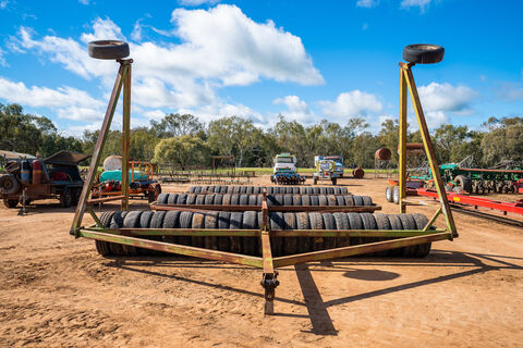 60ft rubber tyre roller system