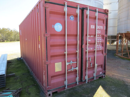 20ft sealed shipping container (maroon in colour)