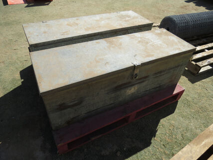2x Heavy duty galvanised 1-11 Jumbox tool chests/field boxes