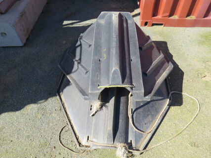 2x Heavy duty poly auger hoppers (Marked 3)