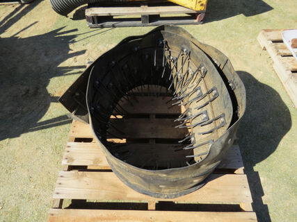 Pallet containing a quantity of canola pick up belt