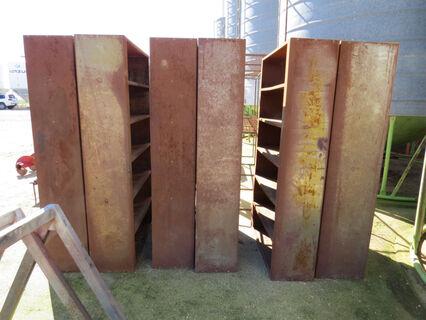 6x steel shelving units