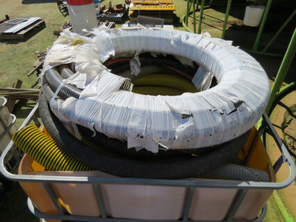 Shuttle containing various airseeder hose including 32mm