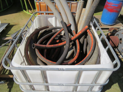 Shuttle of airseeder hose (various lengths and sizes), cut offs and small rolls