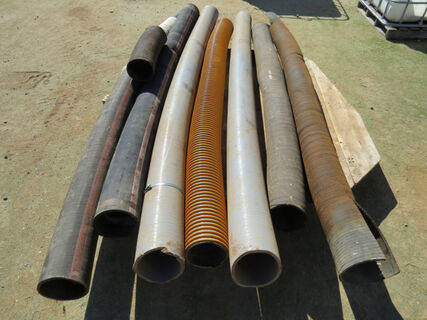 """Pallet containing 6"""" airseeder hose, 7x lengths varying from 2200mm to 2700mm in length"""