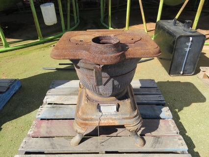 Pot belly cast iron heater