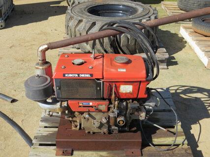 Kubota diesel pump motor, water cooled, running order