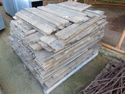 Pallet of hardwood rice stop boards