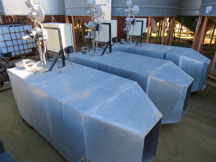 3x Hurll Nu-Way gas burners to suit grain drying silos
