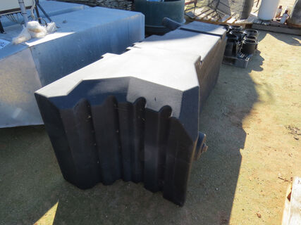 Poly fuel tank suitable for a Case IH header