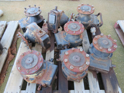 Pallet containing Zimmatic wheel drives (spares)