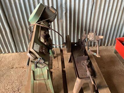 Metal bandsaw and hacksaw