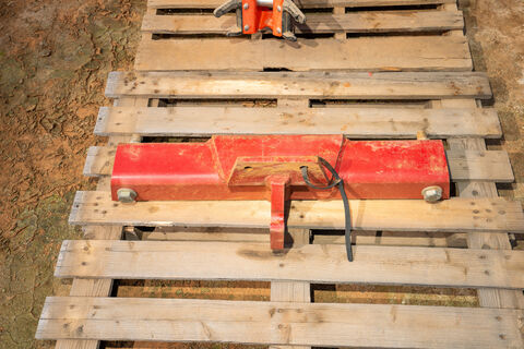 Top hitch for a Case Steiger tractor