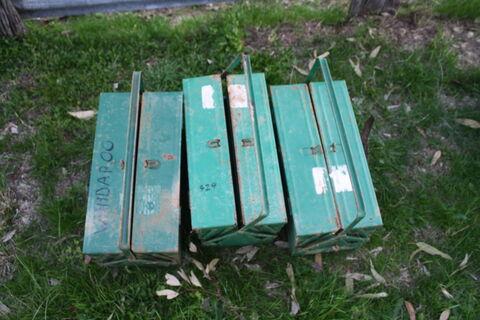 3x metal toolboxes