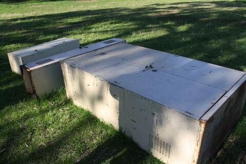 3x metal cabinets