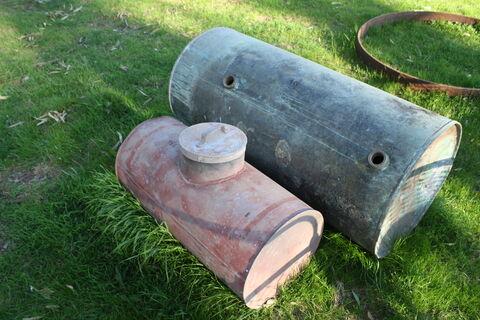2x copper tanks