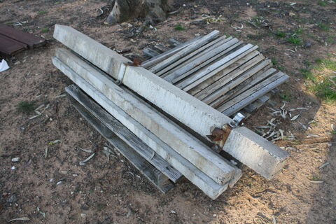 In-line cement posts and strainers