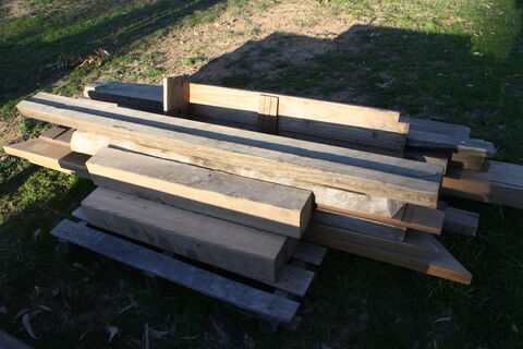 Assorted timber posts