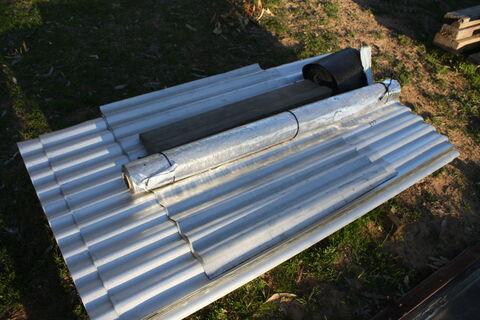 Corrigated iron and insulators