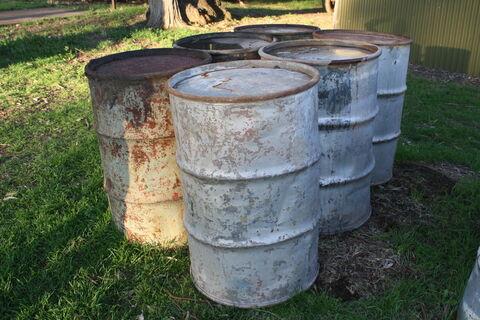44-gallon drums x6